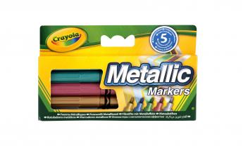 Metallic Markers - Pack of 5 Pens