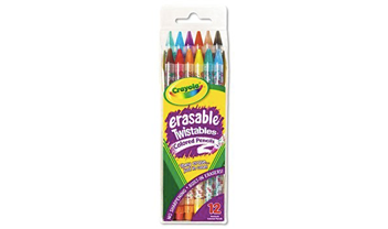 12ct erasable twistable col