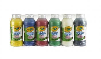 6 Washable Paint Bottle