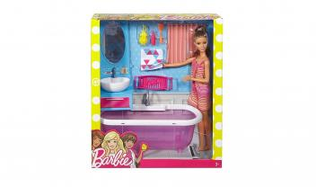 Barbie Doll and Furniture Kitchen Playset