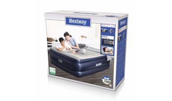 """Bestway® 80"""" x 60"""" x 24""""/2.03m x 1.52m x 61cm Tritech Airbed Queen Built-in AC Pump"""