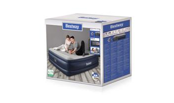 "Bestway® 80"" x 76"" x 22""/2.03m x 1.93m x 56cm Tritech Airbed King Built-in AC Pump"