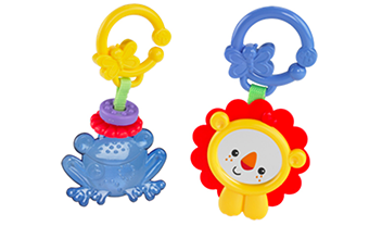 Lion Mirror, Frog Teether